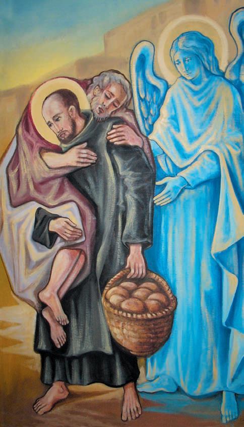 San Giovanni di Dio trasporta sulle spalle un malato