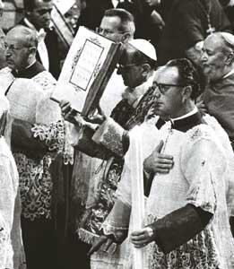 Paolo VI durante il Concilio