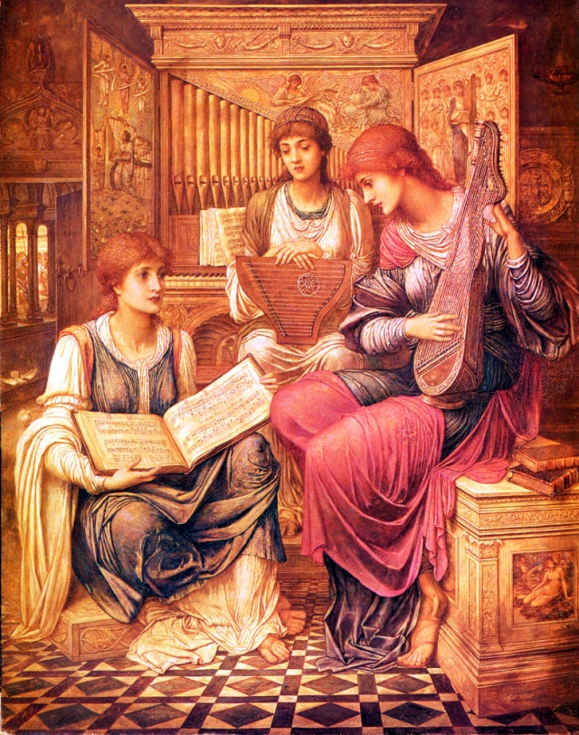 Angeli - Strudwick, John Melhuish 1849-1937 The Music of a Bygone Age 1890