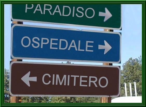 Paradiso - segnaletica