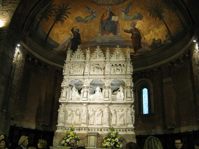 Sant'Agostino - arca - San Pietro in Ciel d'Oro - Pavia