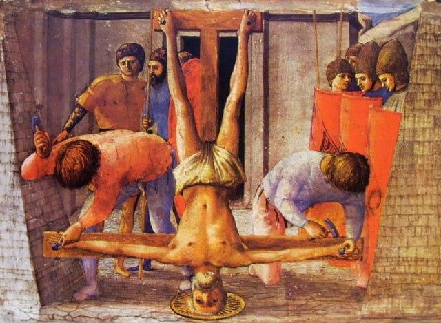 Masaccio - Polittico di Pisa - Martirii di S Pietro e del Battista