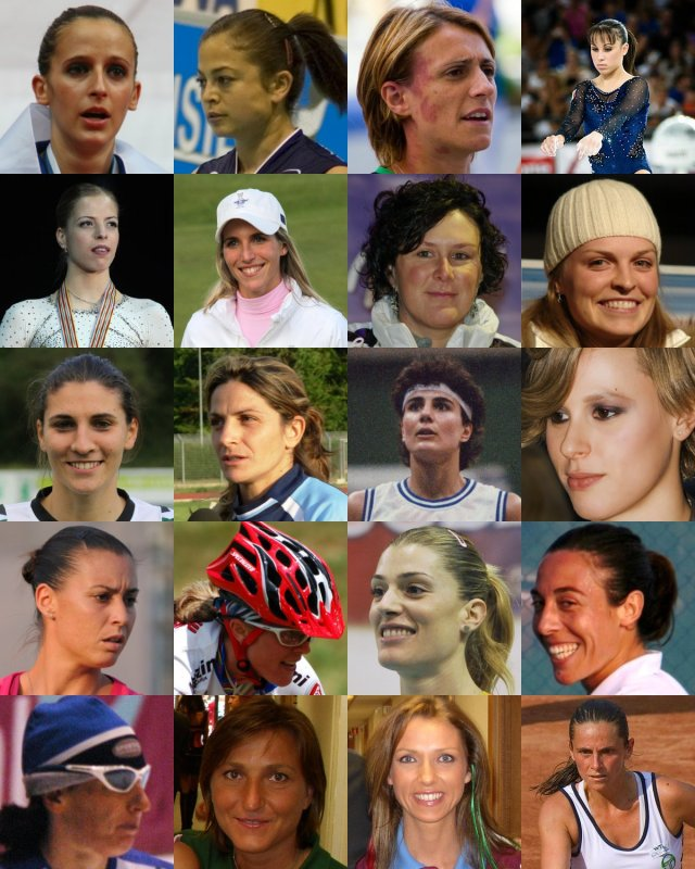 Donne - Collage_of_Italian_sportswomen