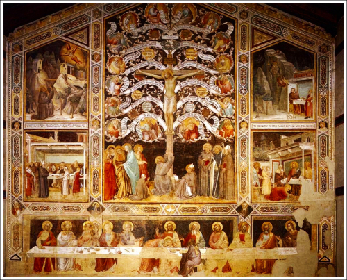 Lignum Vitae - taddeo_gaddi_-_last_supper__tree_of_life_and_four_miracle_scenes