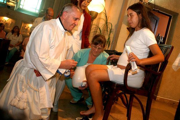 Papa Francesco - Lavanda dei piedi