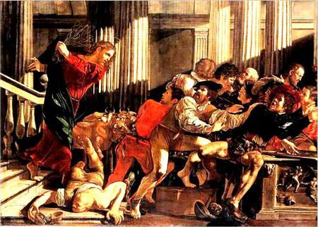 Gesù -cecco-del-caravaggio-la-cacciata-dei-mercanti-dal-tempio