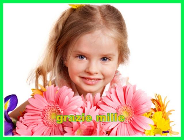 1-Grazie - bimba e fiori