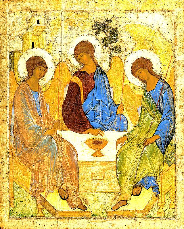 1-Trinità -Angelsatmamre-trinity-rublev-1410