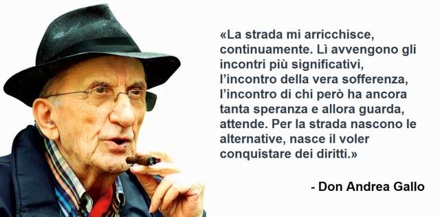 Don Andrea Gallo citazione