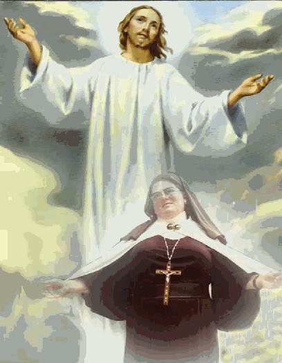 Madre Provvidenza con il Cristo Risorto