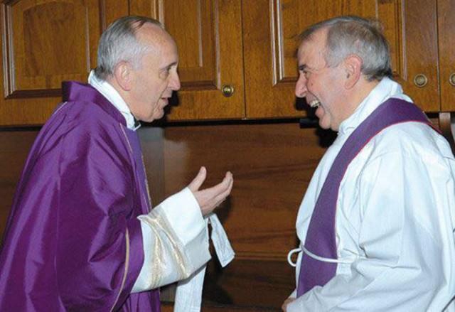 Don Giacomo Tantardini con Papa Francesco