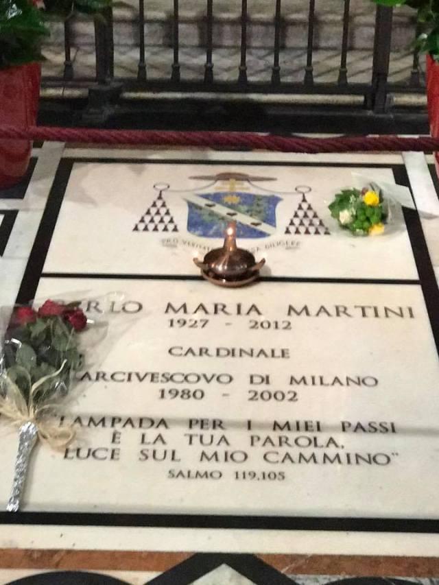Carlo Maria Martini - tomba in duomo